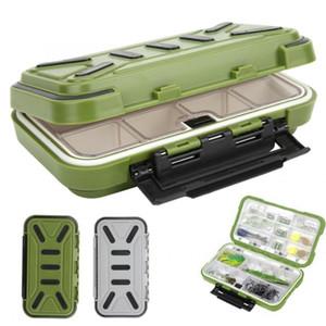 Pesca Box ABS Pesca Waterproof Tackle Box Bait Lure Ferramentas Ganchos armazenamento caso Organizador contentores