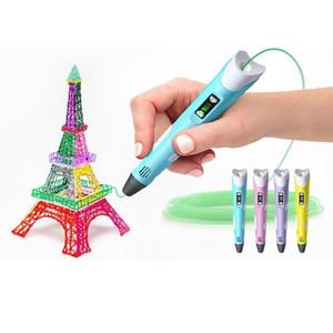 الجيل الثاني 3D الطباعة القلم DIY 3D القلم ABS / PLA الشعيرة الفنون 3D رسم القلم هدية الإبداعية للتصميم الاطفال الرسم الرسم