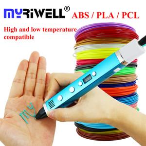 Myriwell 3D Pen USB de l'écran LCD de charge Pen imprimante 3D 1.75mm ABS / PLA / PCL Filament Creative Toys cadeau pour les enfants Design Dessin