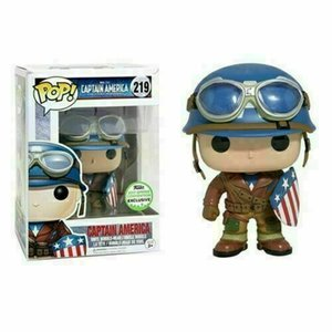 FUNKO POP Capitán América # 219 Marvel Avengers figura coleccionable juguete exclusivo