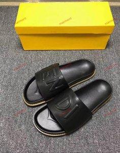 размер xshfbcl 38-46 Женщины дизайнер сандалии Top кожа с Смешать цвета мешка для сбора пыли Дизайнерская обувь Luxury Slide Summer Wide Flat сандалии башмачок