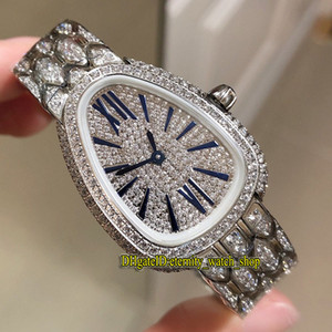Best version Serpenti Seduttori 103159 Gypsophila Diamonds Dial Swiss Quartz Movement Woman Watch Diamond Iced Out Full Case Ladies Watches