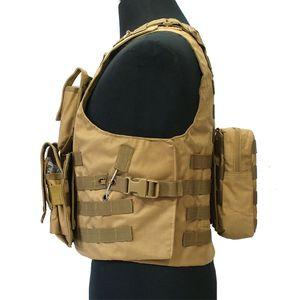 Nylon Pockets Male Vests MOOLE Military SWAT Sleeveless Jacket Tactical Khaki Vests Camouflage Detachable Coat Bullet Proof Vest