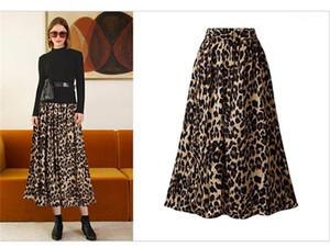 Vita Sexy Ladies Plus Size Contrasto colori Gonne femminile metà polpaccio Abbigliamento progettista delle donne Leopard Print Gonne Alta