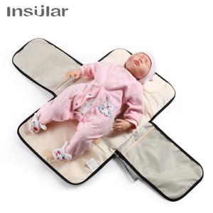 새로운 유아 휴대용 아기 기저귀 변화 매트 방수 접이식 소변 매트 다기능 아기 기저귀 표 패드 커버 변경