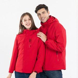 Men And Women Ski Jacket 3 IN 1 Waterproof Thermal White Duck Down Hiking Coat Lovers Winter Sports Snowboard Skiing Snow Jacket