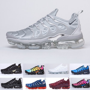Nike TN Plus Vapormax air max airmax Plus Scarpe da corsa per uomo Donna Royal Smokey Mauve String Colorways Olive in design metallizzato Triple Bianco Nero Trainer Sport Sneakers