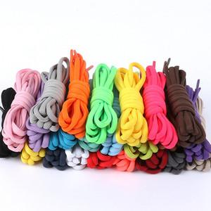 Moda casual cordones de los zapatos redondos de alta calidad multicolor cordones Shoestring Martin botas zapatos deportivos cuerdas de cable