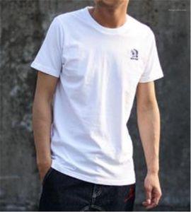 Erkek Tees Hint Erkek Designer Baskı Renk Nefes Tişört İnce Mürettebat Boyun Casual Lüks Katı Tops
