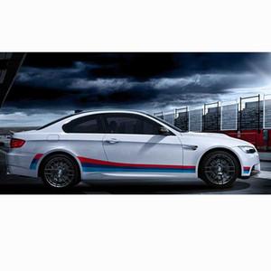 BMW Çekme Çıkartması Plaka Su geçirmez 2PCS / Set Car 3-Renk Gövde Sticker BK