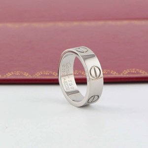 Designer-Schmuck-Frauen-Ring Herren Titan Stahl Trauringe Luxuxdiamanten Rose Gold Verlobungsringe 6mm keine Box
