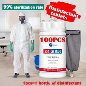 84 Tablette Schäumende Desinfektion Sterilisation Tabletten saubere Wäsche Desinfektion Reinigungstabletten 100pcs / lot