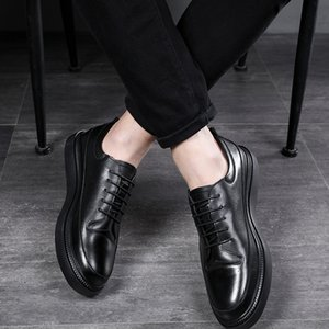 Leather Casual Shoes Men Classic Lace Up Flats Male Black Comfortable Fashion Walking Sneakers Men Breathable zapatos