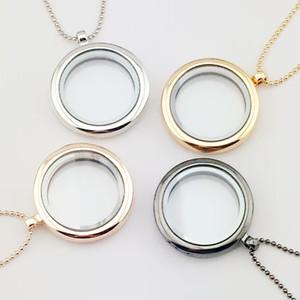 Yüzen takılar çekicilik madalyon DIY Takı lockets takı Kadınlar Erkekler fotoğraf çerçevesi kolye kolye kolye kolye