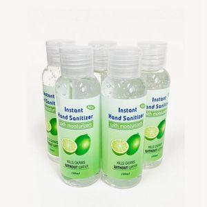Estoque! 100ml Hand Sanitizer com fragrância Mini Sanitizer viagem descartáveis Gel Hand Sanitizer Outdoor Gadgets ZZA2005
