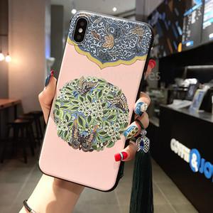 Китайский Винтажный Дворцовый Узор Традиционная Цветочная Печать Бахрома Кисточка Чехол Для Мобильного Телефона Чехол Для Iphone 11 Pro Max 7 8 Plus Xs