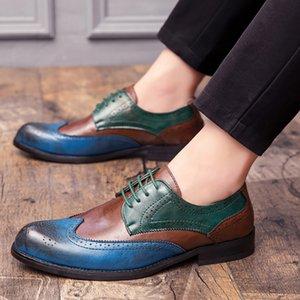 Scarpe di affari del Mens 2020 di nuovo modo di cuoio di grande formato PU abito maschile calzature Classic Loafer Oxfords Primavera per gli uomini