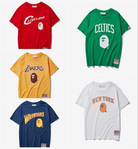 Mens designer de Verão Da Marca Dos Homens T Camisas hip hop Manga Curta Slim Fit Moda Tops Tees Masculino Roupas Nova APE Basketball Sportswear Dos Homens