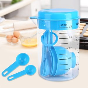 7 pièces / set PP cuillères à mesurer Coupes Outils de cuisson
