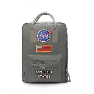 디자이너 NASA 배낭 국기 배낭 남성 여성 가방 남녀 학생 가방