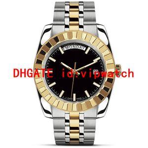 mens calientes de la venta U1 del dial del reloj negro de los hombres automáticos mecánicos de movimiento mira el acero inoxidable reloj de pulsera masculina libre del envío