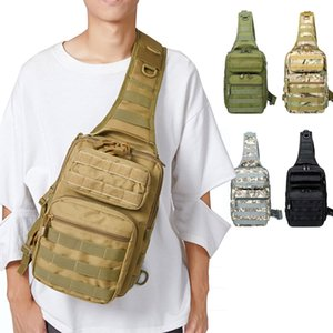 Molle Tactical Bag Army Military Sling Shoulder Backpack Outdoor Hunting Travel Pack Large Camo Camping Crossbody Chest Bolsa