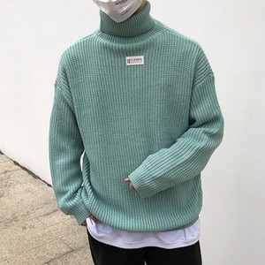 dongguan_wholesale Erkekler Triko Yüksek Yaka Kazak Jakarlı Triko Erkek Keten Kaplumbağa Yaka Triko Erkekler Giyim Sonbahar Kış Moda pıhtısı