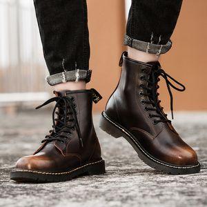 La venta caliente-rcycle Botas de cuero Hombres Mujeres Hombres Mujeres Martins Zapatos Otoño Invierno Sty