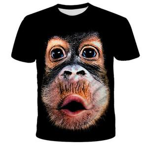 2020 Nouvelle Arrivée Série populaire Nouveauté animaux Cochon Mouton T-shirt Homme Femme 3D Imprimer T-shirt Harajuku style T-shirt d'été Hauts 2060607V