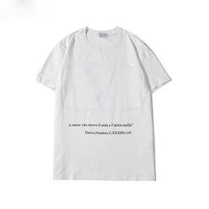 Fashion men's T-shirt new arrival male women high-quality letter print famous casual short-sleeved men's designer T-shirt S-2XL 3 colors