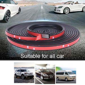 16 / 25m B Forma Car Porta Seal Tiras Etiqueta Weatherstrip Rubber Seals Isolamento acústico Dustproof Car Porta Seal