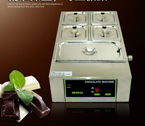 For Commercial Use 5 Tank Digital Series Chocolate Melting Machine Stainless Steel Chocolate Fountain