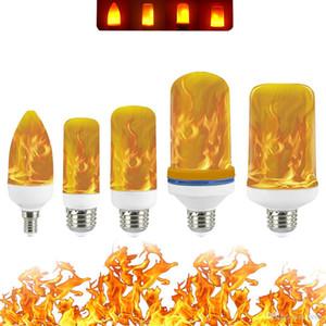 Completa Modelo 3W 5W 7W 9W E27 E26 E14 E12 Chama Bulb 85-265V LED Chama Efeito Fogo lâmpadas cintilação Emulação Decor Lamp LED