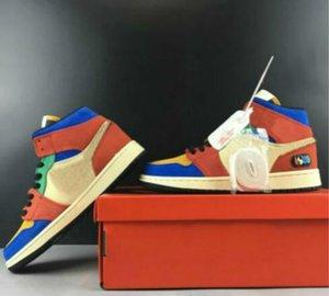 Bleu Le Grand X 1 s 1 Mi intrépide Chaussures de basket ball Hommes 1 Bleu Le Grand intrépide en daim Sport Sneakers 19