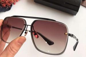 121 Praça piloto Sunglasses Preto / Brown Shaded óculos de sol unissex homens Shades Óculos Eyewear novo com caixa
