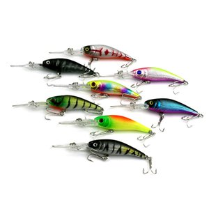 80pcs 10.5cm 7.8g Plastic Hard lure Freshwater fishing Bass Minnow Floating Artificial Fishing Wobbler lure hook Free shipping