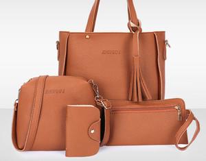 BRW дизайнерских сумок способ женщин тотализаторы Композитных дам мешок 4шт набор дешевые дизайнер роскошь сумка кошелек