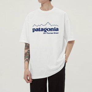 Hombres PATA Negro blanco del verano camisetas de la moda de verano de algodón camisetas Monopatín de Hip Hop de Calle T Shirts DYDHGMC207