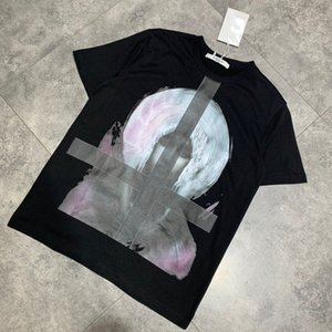 2020 European spring and summer fashion latest style head print T-shirt French men's designer high quality casual wild mixed cotton Paris G