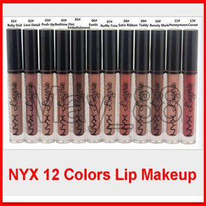 2020 NYX Lip Lingerie Liquid Matte Lip Cream Lipstick 12 Colors Charming Long-lasting Brand Makeup Lipsticks Lip Gloss Free Shipping
