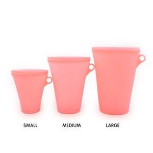 실리콘 식품 저장 용기 3 개 / 대 신선한 그릇 냉장고 주최자 재사용 스탠드 과일 야채 컵 가방 LJJO7127
