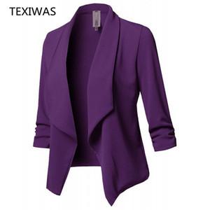 TEXIWAS Frühling Kimono Mantel der formalen Klage der Blazer Frauen Anzüge Blazer Mäntel Arbeit Büro-Dame-Klage-Blazer Strickjacke Tops