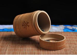 Caddy regalo fatto a mano di bambù Tea Canister Spice Caddy Storage Box Organizzatore Bottiglia Tea Set box cucina Accessori guarnizione del coperchio del vaso