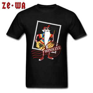Hawaii Honolulu Santa Roshi T-Shirt Poster Stamp 3D Funny Print Nuove magliette Beach Surfer Cartoon T-Shirt Uomo 2019