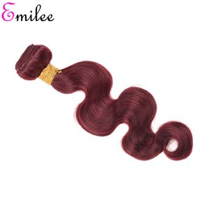 Emilee malaisienne pré-couleur Bourgogne Cheveux Weave Bundles Red Remy Body Human Wave Hair Extensions 4 offres de Bundles