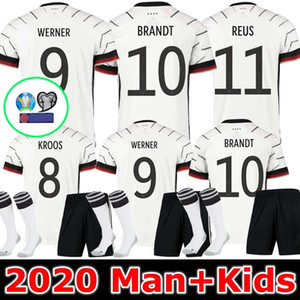 MEN + KIDS 독일 2020 축구 유니폼은 홈 원정 HUMMELS KROOS 드락 슬러 레 우스 MULLER GOTZE KIMMICH 축구 셔츠 유니폼 키트