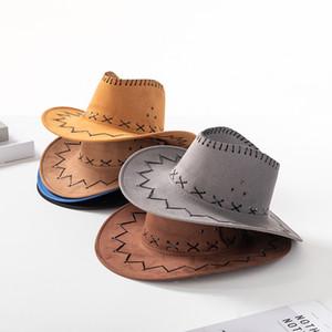 Западные ковбойские шляпы пастушка поля шляпы дети соломенная шляпа всадник шапки Мужчины Женщины лето открытый туризм шляпы повседневная шапка Монголия Прерия M1656