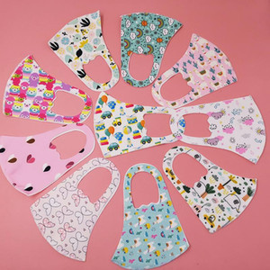 DHL Fast Delivery Children Cartoon Party Masks Kids Mask face Mouth Resuable Washable Fashion Anti-dust Masks Dust Proof