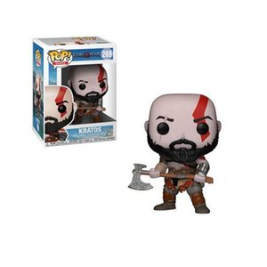 Funko pop 10cm God of War Kratos Anime Characters Pvc Action Figure Collection Model (Christmas Toy) free ship