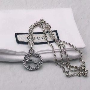 G Mejor diseño de lujo alta calidad del collar 925 Collar unisex Declaración Pareja joyería collar salvaje manera de la fuente